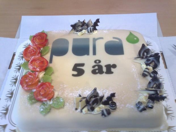 PURA 5 år - kake 20130503